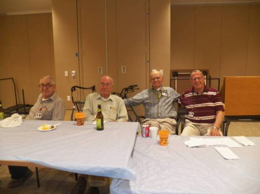 Residents enjoy the March 26 Happy Hour celebration where Friends of the Soldiers Home volunteered.