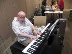 Resident Ray Anderson provides the music at Happy Hour March 26.