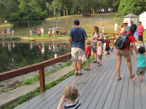 Fishing at the Soldiers' Home during the 2012 Fourth of July event.