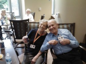 Residents were in high spirits July 2 for the monthly Saloon Night With Friends event.