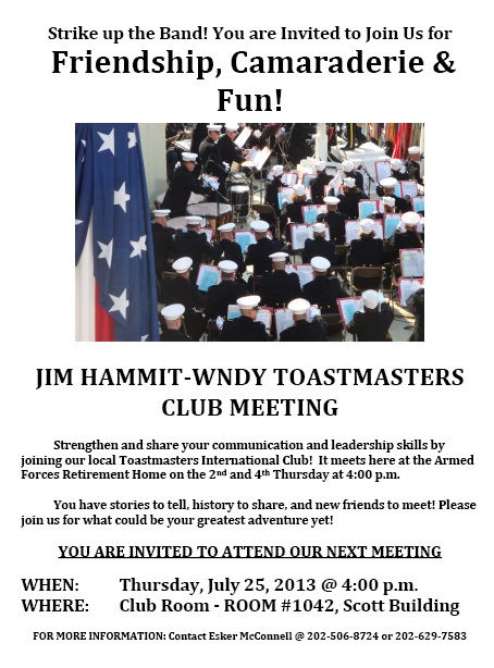 Toastmasters flyer