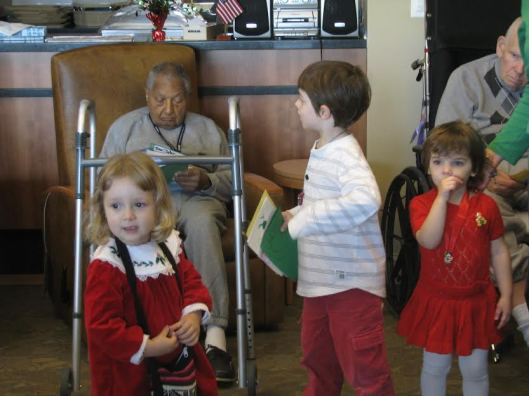 Holiday Card distribution (Photo by Mary Bucci).