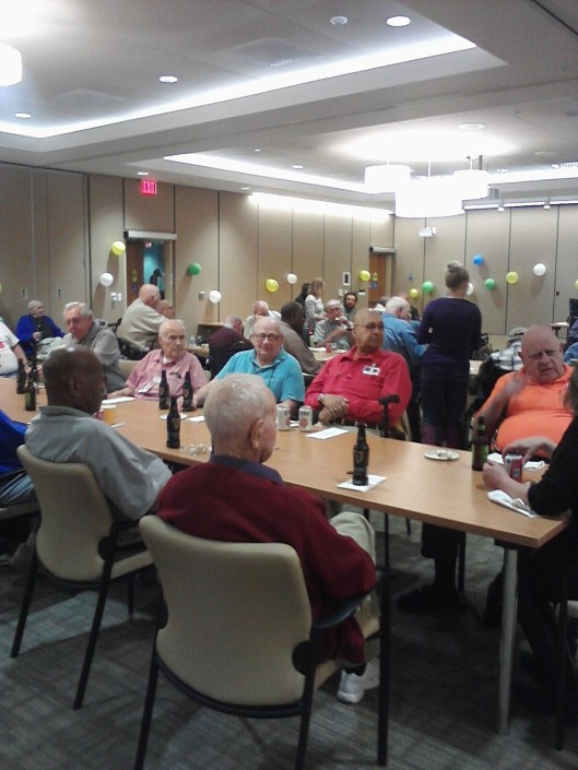 Friends volunteers made sure residents had their favorite food and beverage at Happy Hour on April 29