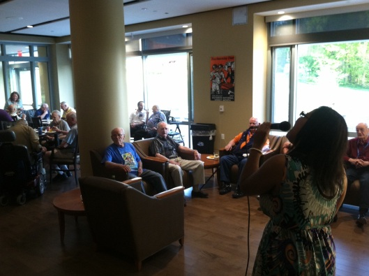 Geneva Renee belted out some beautiful tunes at Saloon Night on May 6 that captured residents' attention and had them talking afterward.