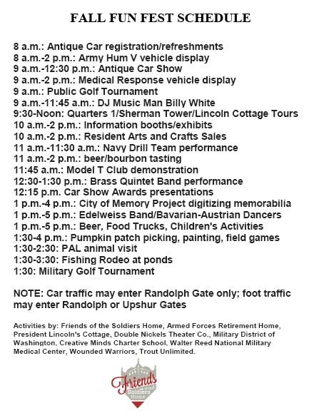 Fall fun fest schedule